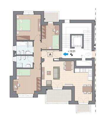 Vendita appartamenti grugliasco piano terzo torre lesna for Edificio a 3 piani