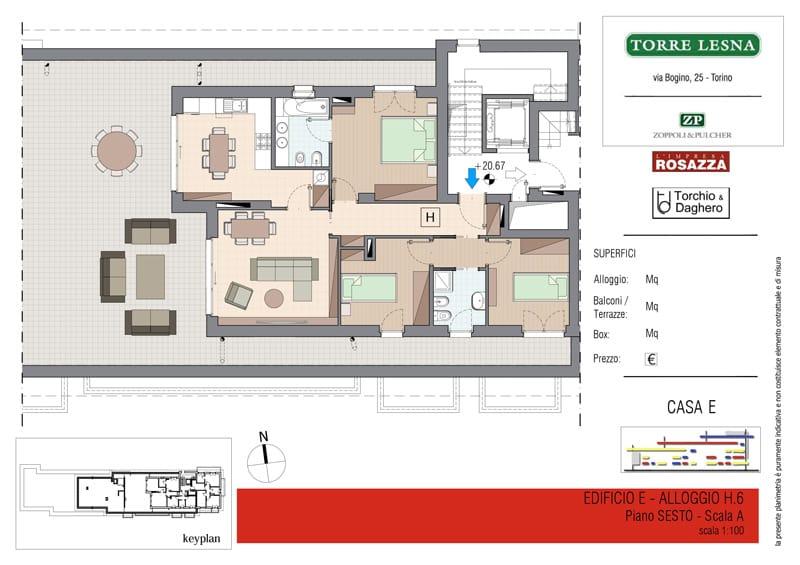 Vendita Attico Grugliasco - Vendita Appartamenti Cinque Locali Grugliasco Torino | Torre Lesna