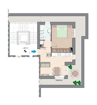 Vendita Attico Grugliasco - Vendita Appartamenti Grugliasco bilocale Torino | Torre Lesna