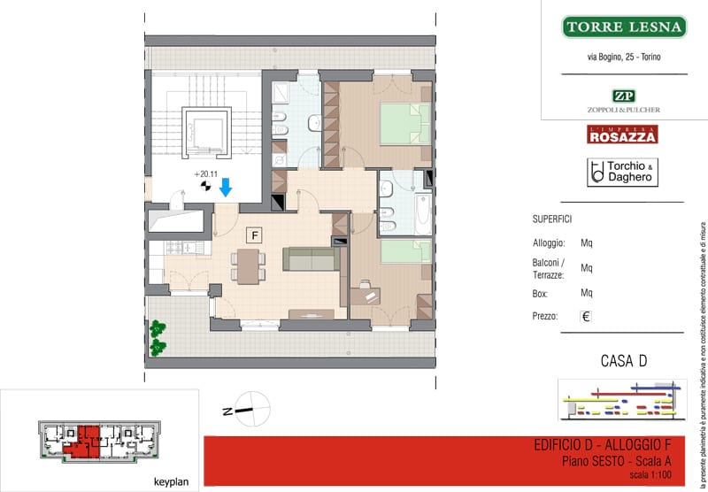 Vendita Attico, Grugliasco - Vendita Appartamenti Grugliasco Quadrilocale Torino | Torre Lesna